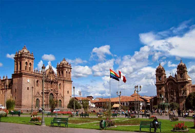 the main square of Cusco City