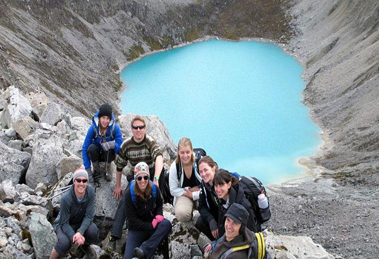 Salkantay Lake on the way to Machu Picchu