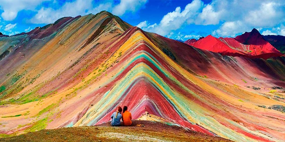 The colorful mountain of Peru trekking to Rainbow Mountain