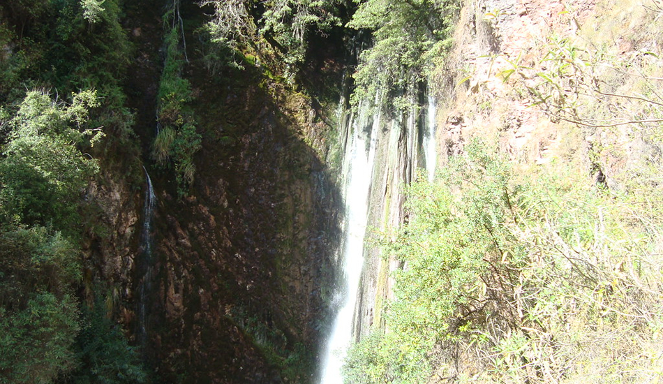 Chinchero hike to the sacred valley - poc poc waterfall