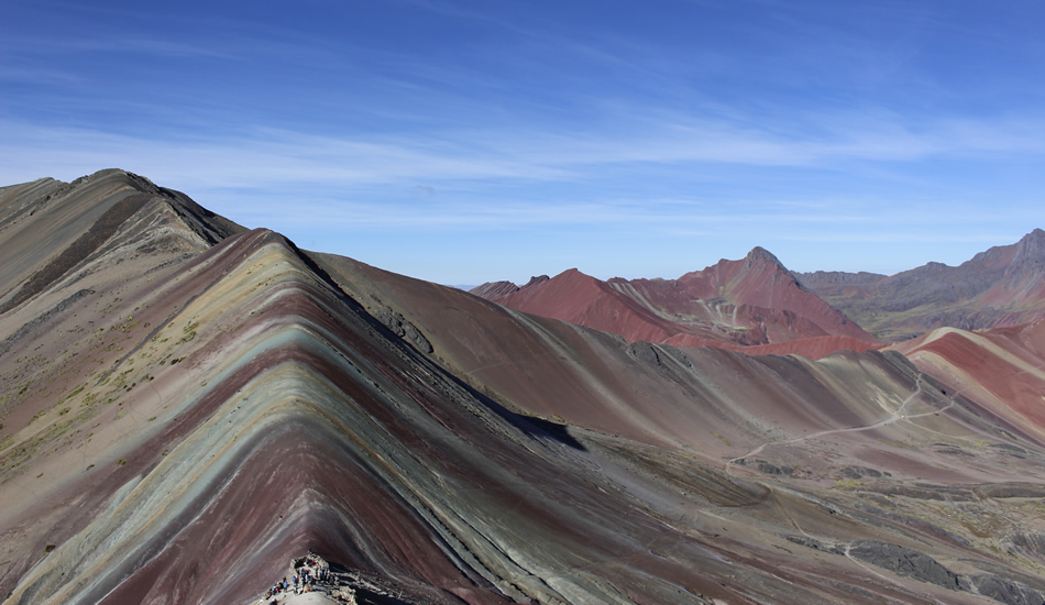 rainbow mountain - view from the top